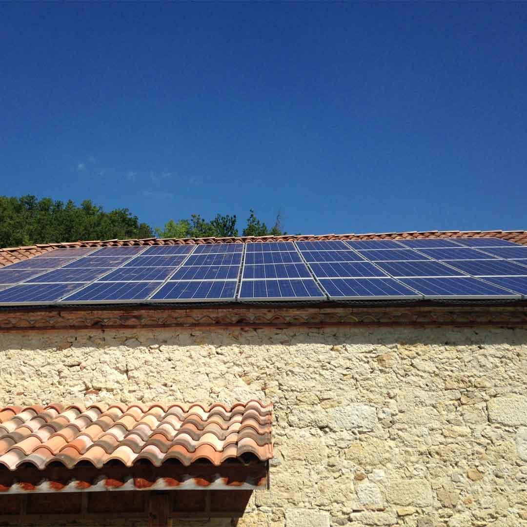 Une installation de panneaux solaire chez un particulier