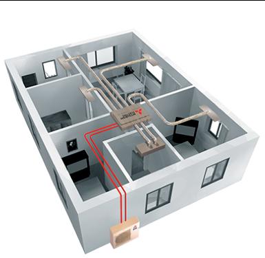 économisez de l'énergie grâce à un système de chauffage et de climatisation relié à vos panneaux solaires